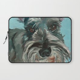 Schnauzer Dog Portrait Laptop Sleeve