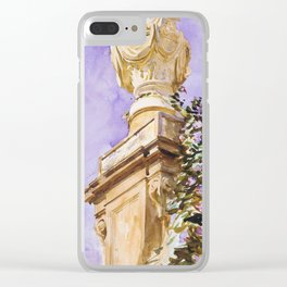 Lilac column in bloom Clear iPhone Case