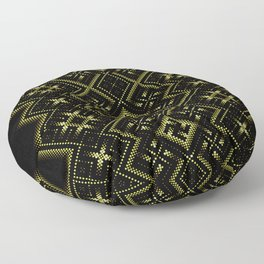 Solar signs. Ancient ornament. Sacred geometry Floor Pillow