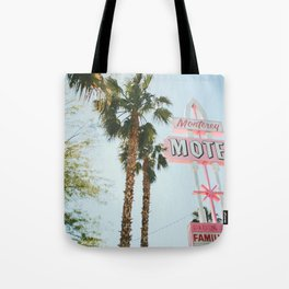 Motel Vintage Sign Tote Bag