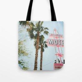 Motel Vintage Sign Tote Bag