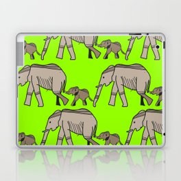 The elephants walk in two by two. Hurray! Hurray! Laptop & iPad Skin