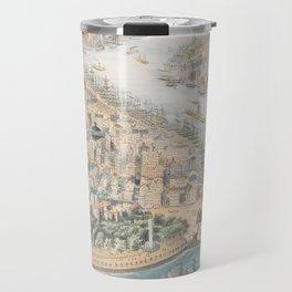 Vintage Pictorial Map of New York City (1852) Travel Mug
