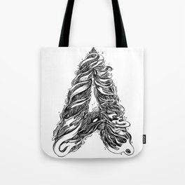 The Illustrated A Tote Bag