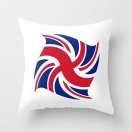 Flag of UK 16- London,united kingdom,england,english,british,great britain,Glasgow,scotland,wales Throw Pillow