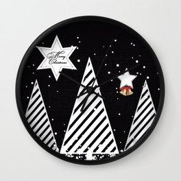 Winter Christmas Wall Clock