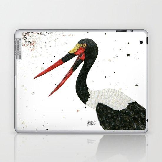 Saddle-billed Stork Quinn Laptop & iPad Skin