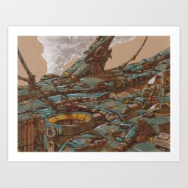 Aerial Station Two Art Print