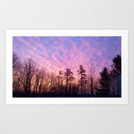 Bloomfield, NY morning Art Print