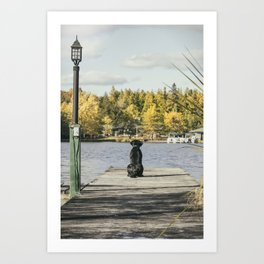 Charlie on the Pier Art Print