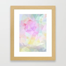 Abstract print of triangles, polygon in pastel colors Framed Art Print