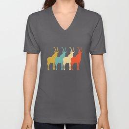 Antelope Retro Vintage Unisex V-Neck