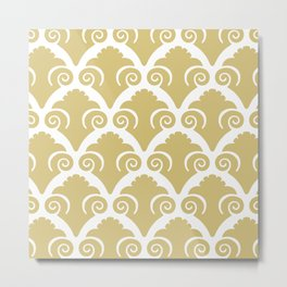 Scallop Pattern Gold Metal Print