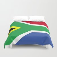 south africa Duvet Covers featuring South Africa Flag (1994) by D.A.S.E. 3
