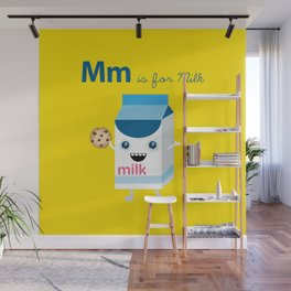 M is for Milk Wall Mural