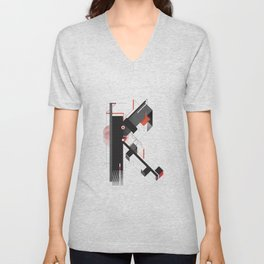 Abstract K Unisex V-Neck