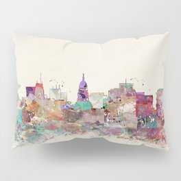 Madison Wisconsin skyline Pillow Sham