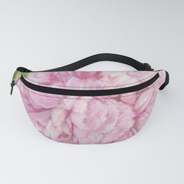 Pink Peony Floral Watercolor Original Painting Botanical Garden Flower Detailed Realism Fanny Pack