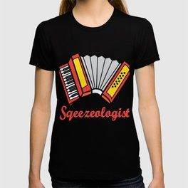 Accordion Accordionist T Shirt Gift Squeezeologist T-shirt