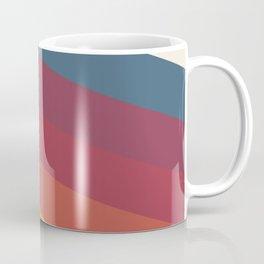 Manat - Colorful Classic Abstract Minimal Retro 70s Style Stripes Design Coffee Mug