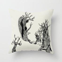 Old trees Throw Pillow