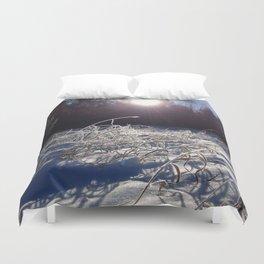 Winters frosty glow Duvet Cover