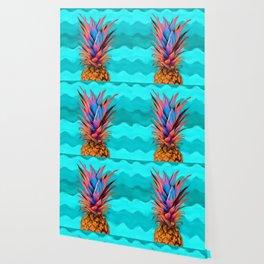 Colorful Pineapple, Ananas fruit Wallpaper