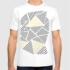 A Linear White Gold New White SMALL Mens Fitted Tee