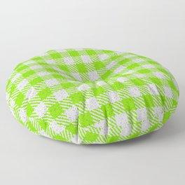 Lawn Green Buffalo Plaid Floor Pillow