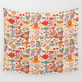 funny tea  party Wall Tapestry