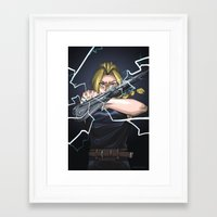 fullmetal Framed Art Prints featuring Fullmetal by Monica Benik