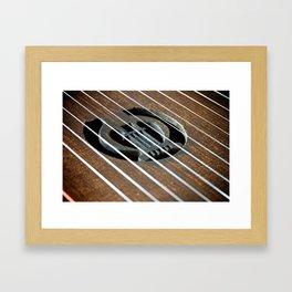Kantele, lyre detail Framed Art Print