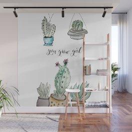 You Grow Girl Wall Mural