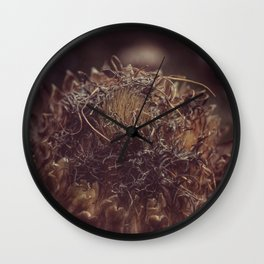 Dead Flower Wall Clock