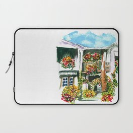 Flowers on the Balcony Laptop Sleeve