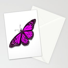 Pink Monarch Butterfly Stationery Cards