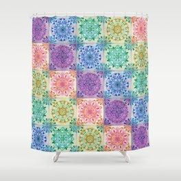 Mandala Rainbow Shower Curtain