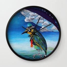 God's Umbrella Wall Clock