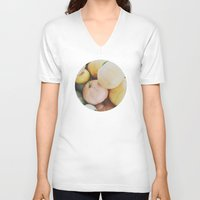 les mis V-neck T-shirts featuring les citrouilles by Lost & Fawned