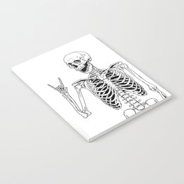 Rock and Roll Skeleton Notebook