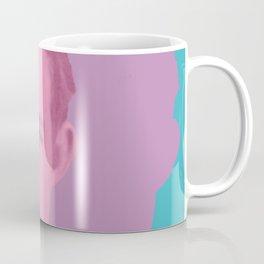 Hemingway - portrait pink and blue Coffee Mug