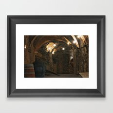 In the wine caves Framed Art Print