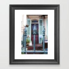 French Quarter Gate Framed Art Print