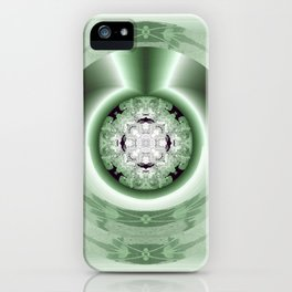 Art Deco Hub Cap in Green iPhone Case