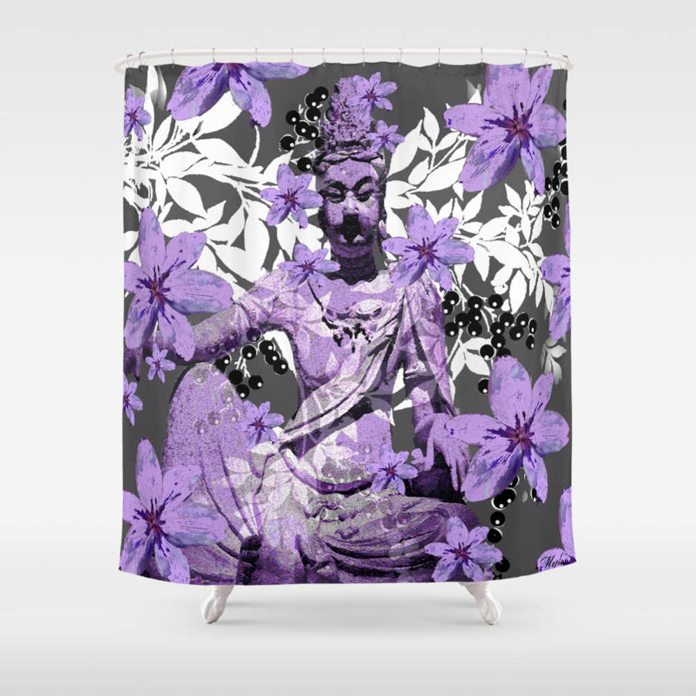 China Antiquities Yesterday Meets Today Shower Curtain by Saundramyles