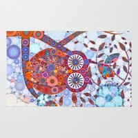 discount Area & Throw Rugs featuring If Klimt Painted An Owl :) Owls are darling birds! by Love2Snap