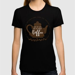 Stay up late. Get up early. Coffee. T-shirt
