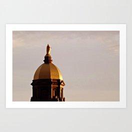 Golden Dome at Sunset Art Print