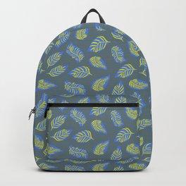 Leaves on Blue Gray Backpack