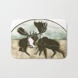 Moose Fight Bath Mat